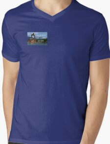 Not all Those who Wander are Lost, Tolkien, LOTR (scenic background) Mens V-Neck T-Shirt