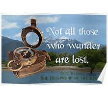 Not all Those who Wander are Lost, Tolkien, LOTR (scenic background) Poster
