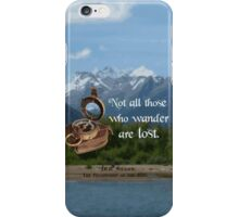 Not all Those who Wander are Lost, Tolkien, LOTR (scenic background) iPhone Case/Skin