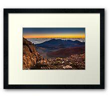 Stunning Sunrise View at the Haleakala Volcano Framed Print