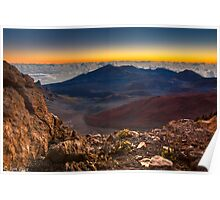 Stunning Sunrise View at the Haleakala Volcano Poster