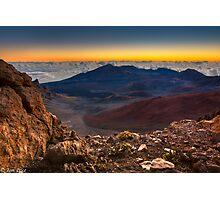 Stunning Sunrise View at the Haleakala Volcano Photographic Print