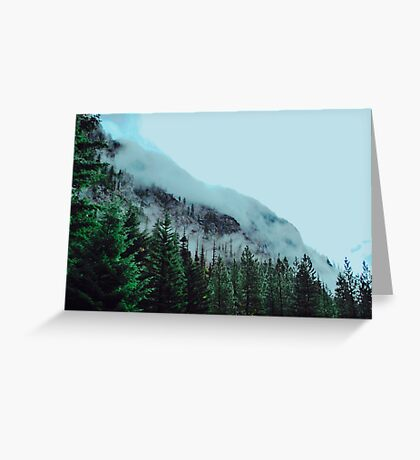Mist Over The Mountain Greeting Card
