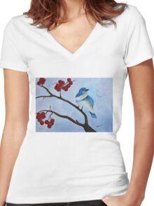 Cherry Picker Women's Fitted V-Neck T-Shirt