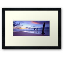 Phillip Island Jetty Sunset Framed Print