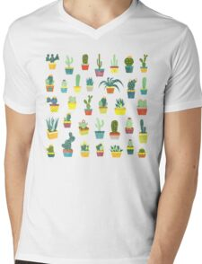 Succulents Mens V-Neck T-Shirt