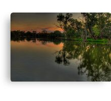 River Meditations , Horseshoe Lagoon Murray River ,Albury NSW - The HDR Experience Canvas Print