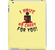 HALLOWEEN Funny I have no CANDY for you zombie with brains iPad Case/Skin