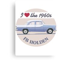 FB Holden - I love the 1960s Canvas Print