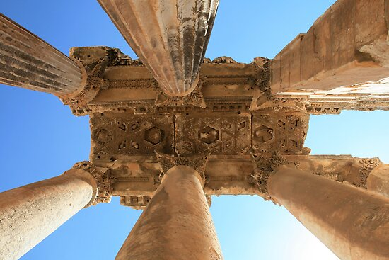 Baalbek, Lebanon - Temple of Bacchus Column relief by sccaldwell