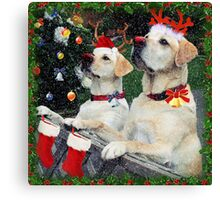 Waiting for Santa Canvas Print
