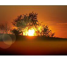 Sunset on the hill Photographic Print