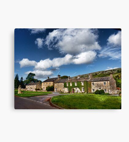 The Cottages Arncliffe Canvas Print