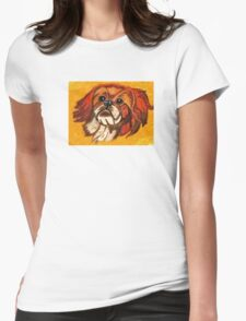 THE LITTLE DOGGIE Womens Fitted T-Shirt
