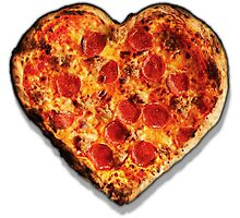 Heart Shaped Pizza Photographic Print