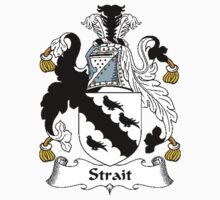 Coat of arms (family crest) for last-name or surname Strait (s) . Heraldry banner for your name. Kids Clothes