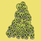 Green Skulls by Stevan Hyde