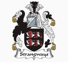 Coat of arms (family crest) for last-name or surname Strangways . Heraldry banner for your name. Kids Clothes