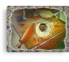 Xmas Pudding Canvas Print