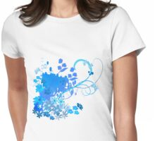 Blue spring Womens Fitted T-Shirt