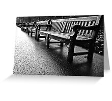 Benches to infinity Greeting Card