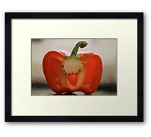 Backlit Pepper Framed Print