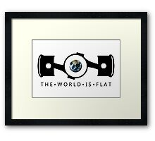 The World Is Flat Framed Print