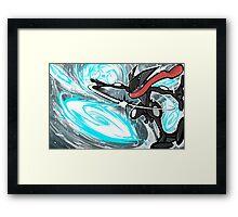 Shiny Greninja   Water Shuriken Framed Print