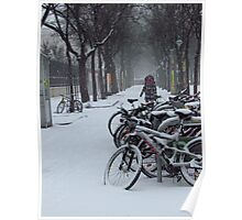 Vienna - Bikes in the snow Poster