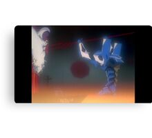 Neon Genesis Evangelion - Stabbing Lilith - 2015 1080p Blu-Ray Cleaned Upscales Canvas Print