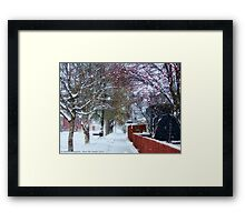 Winter Street Framed Print