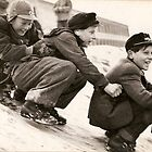 Shoe Riding in the Snow by Kenneth Hoffman
