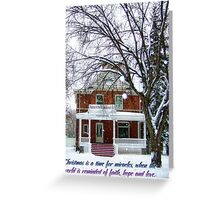 A Time for Miracles (Christmas Card) Greeting Card