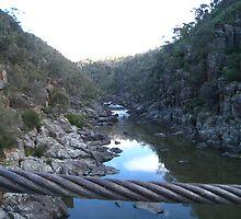 Cable Gorge Trevallyn Gorge, Launceston, Tasmania by RainbowWomanTas