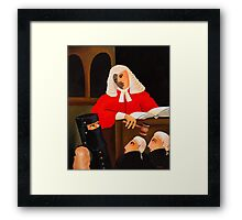 THE JUDGE Framed Print