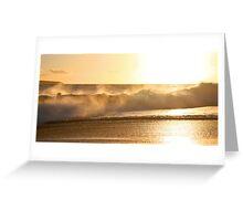 Golden Wave of Makena Greeting Card