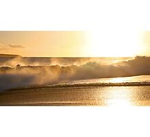 Golden Wave of Makena Photographic Print