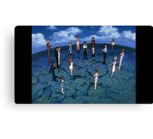 Neon Genesis Evangelion - CONGRATULATIONS - 2015 1080p Blu-Ray Cleaned Upscales Canvas Print