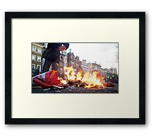 a lull at the riot Framed Print