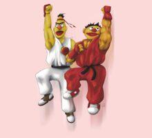 Sesame Street Fighter: Beryu & Kernie One Piece - Short Sleeve