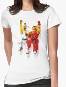 Sesame Street Fighter: Beryu & Kernie Womens Fitted T-Shirt