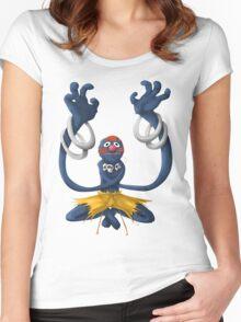 Sesame Street Fighter: Grhalsim Women's Fitted Scoop T-Shirt