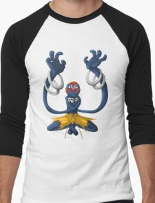 Sesame Street Fighter: Grhalsim Men's Baseball ¾ T-Shirt