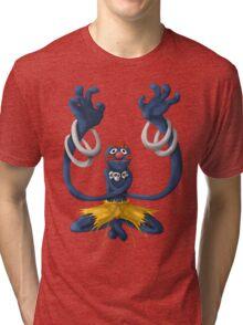 Sesame Street Fighter: Grhalsim Tri-blend T-Shirt