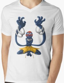 Sesame Street Fighter: Grhalsim Mens V-Neck T-Shirt