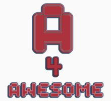A 4 awesome - sticker by vampvamp
