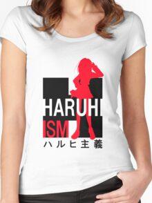 The melancholy of haruhi suzumiya anime manga shirt Women's Fitted Scoop T-Shirt