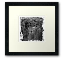 The Atlas of Dreams - Plate 18 (b&w) Framed Print