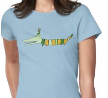 Stripey Mr Crocodile Womens Fitted T-Shirt