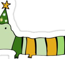 Stripey Mr Crocodile Sticker